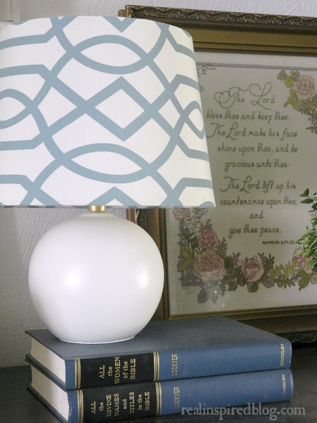 When Decorating Mistakes Aren't Mistakes::blue and white lamp