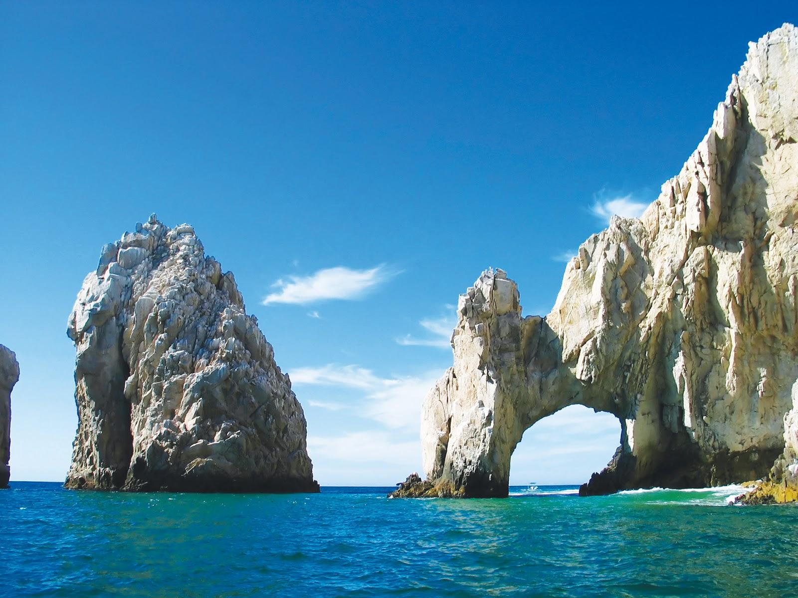 Vista de Los Arcos en Baja California Sur