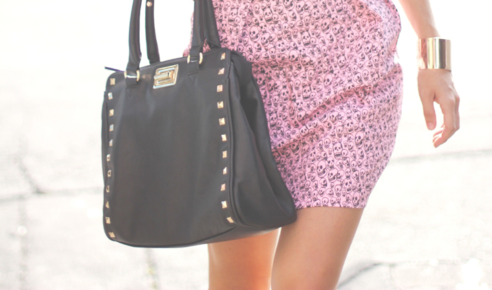 Studded bag fashion blogger