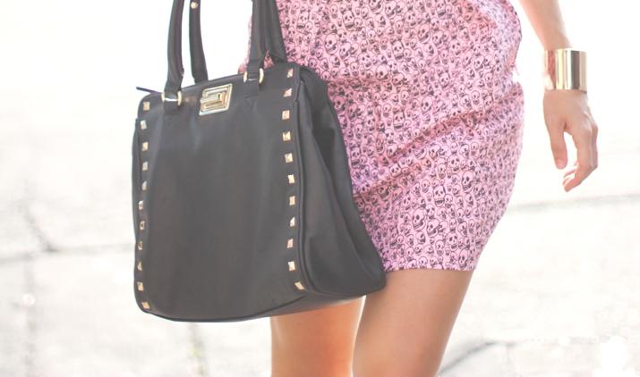Studded bag fashion blogger