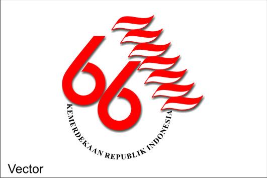 Logo Hut RI ke 66 Vector Format Corel Draw, Logo Kemerdekaan Republik ...