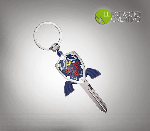 Funda para llaves, con forma de espada de Link, de Zelda - El Extracto Creativo