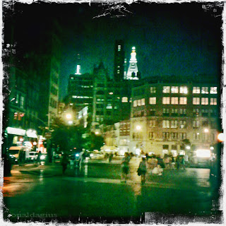 Union Square in New York City at night