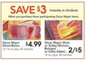 Walgreens Weekly Ad Sale 01152017 01212017 besides Hot Kraft Coupons And Giant Eagle Deal On Cream Cheese furthermore 1 501 Oscar Mayer Bacon Printable Coupon Returns Plus Nice Sales Deals At Target Thru 117 further Vons Coupon Policy additionally Good Deals At Shop N Save Starting 331. on oscar mayer bacon printable coupon save 1 50