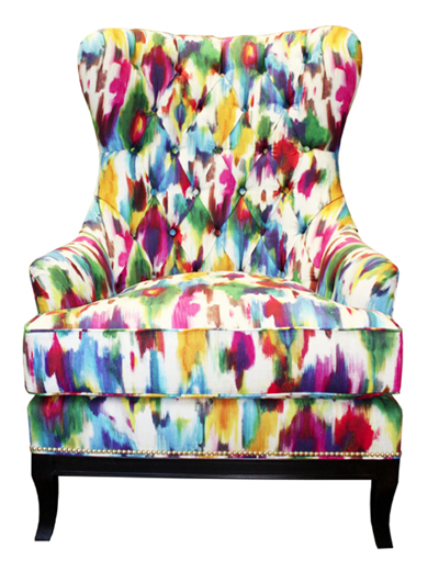 bright, fun, chair, colorful