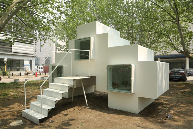 Lloyd's Blog: Tiny Home in China designed to be stacked and packed on house inside a china, small apartment designs in china, homes in china,