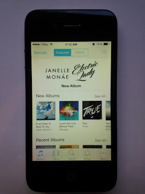 iPhone 4, iOS 7 iTunes Store