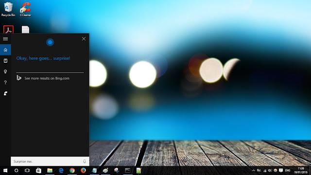 Cortana surprise me