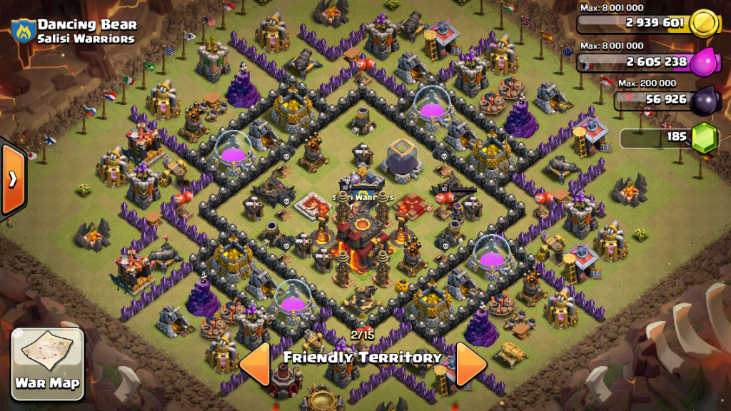 Coc th 10 base war