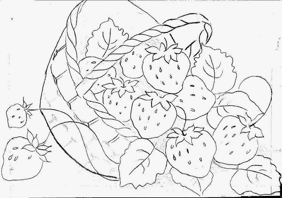 Desenhos De Cestas Frutas Para Colorir