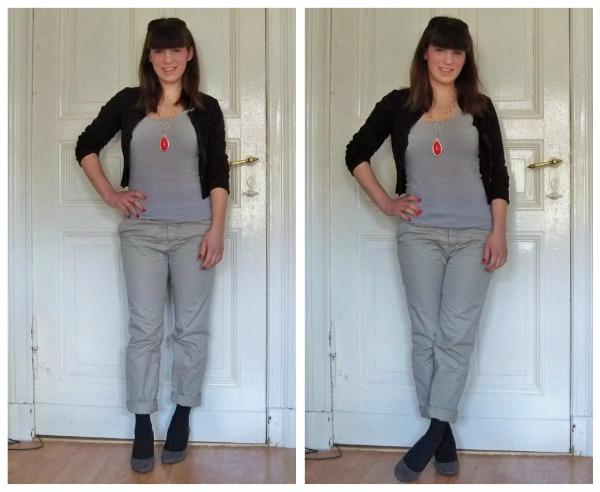 30 Kleidungsstücke für 30 Tage ergeben 30 verschiedene Outfits Tag 4