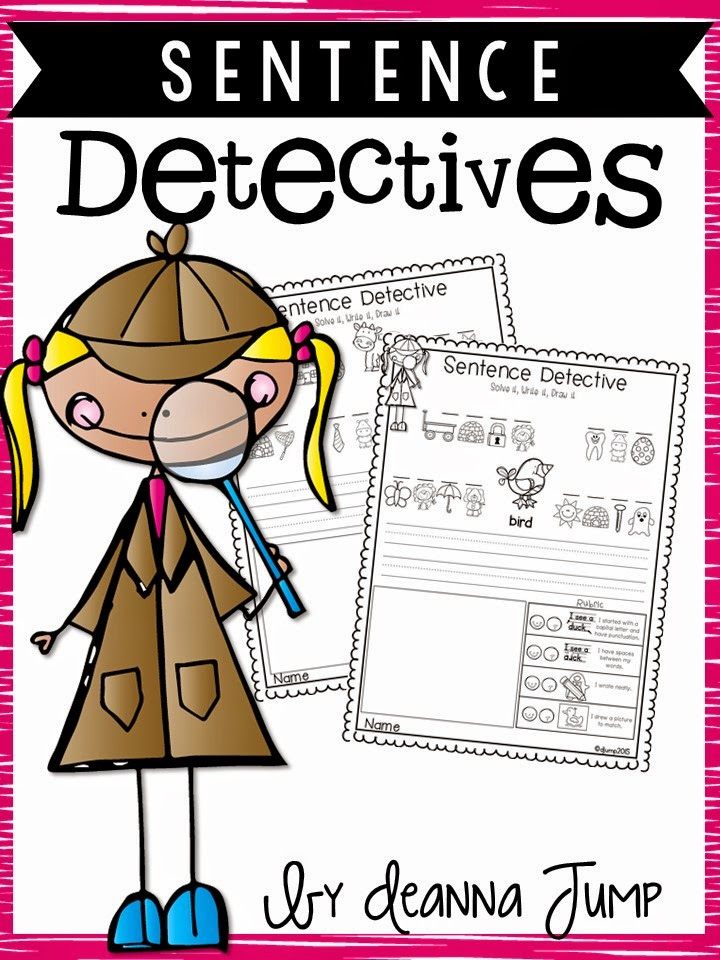 Slide on sentence detectives no prep reading and