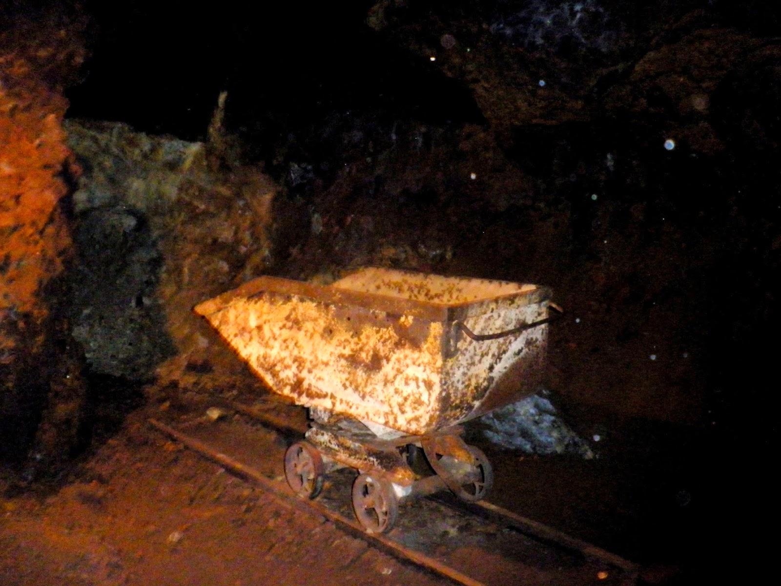 Vagón minero de la cueva de hierro. Alto Tajo