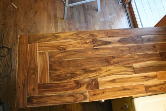And the corner pattern? - Beautifully Contained: Wood Countertops: Part 1