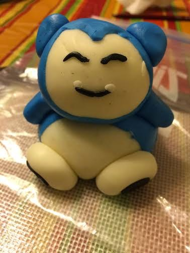 Pokemon-Snorlax and Pikachu Fondant figurine Cake