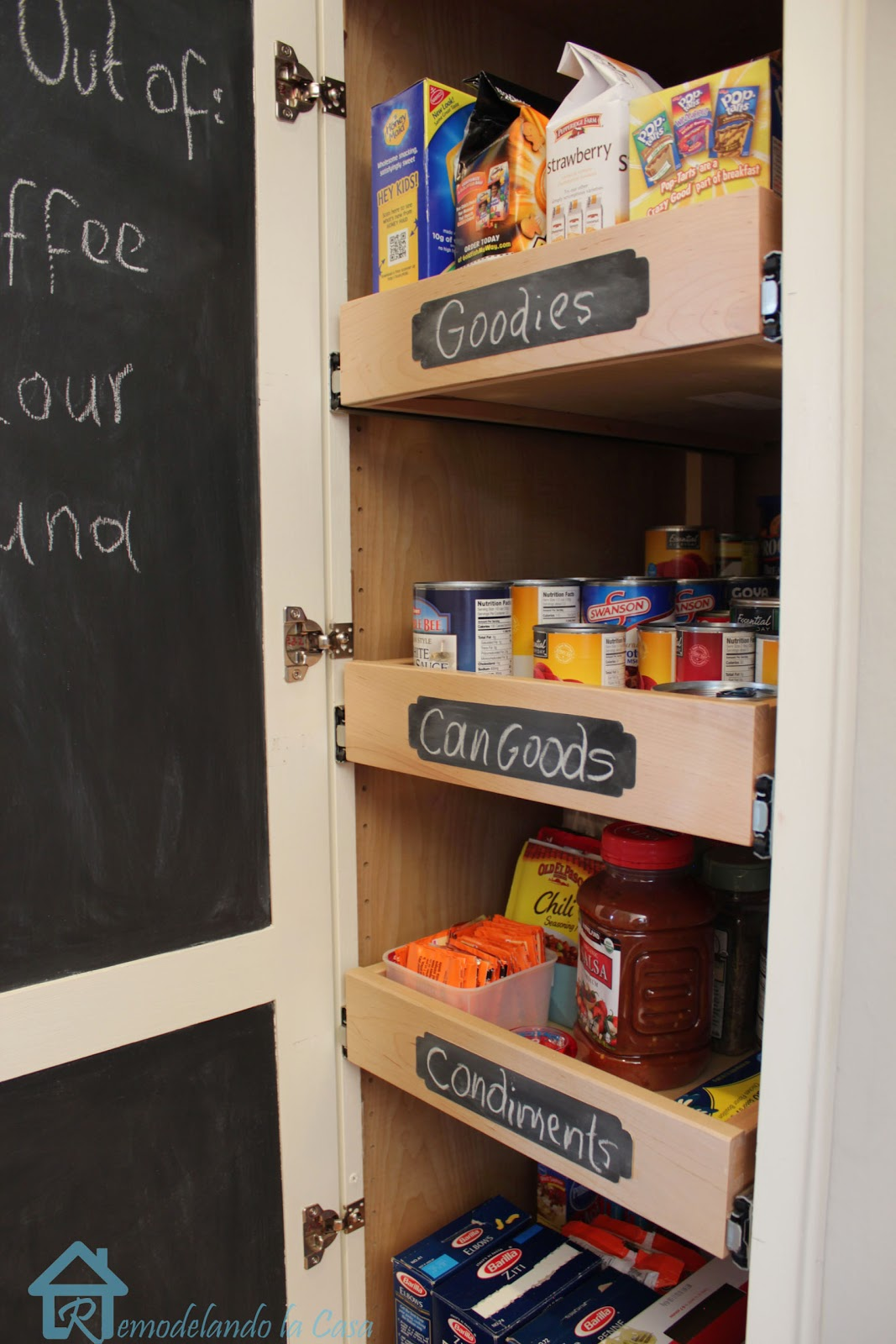 Kitchen Chalkboard With Shelf Remodelando La Casa Chalkboard Labels