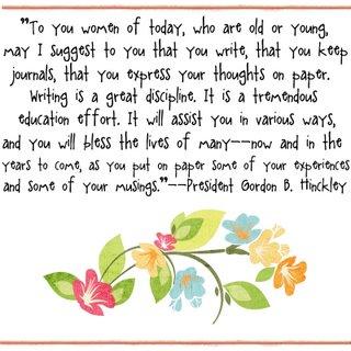 kiana bates week of hinckley journals