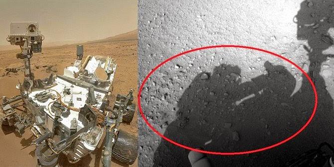 Sesosok bayangan manusia tertangkap kamera di Mars!