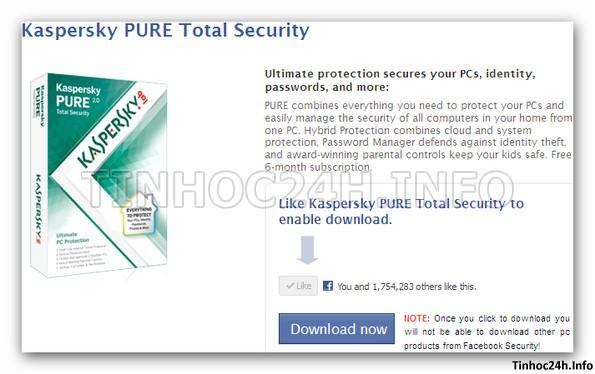 step 3 Kaspersky PURE 2.0 Total Security bản quyền 6 tháng miễn phí