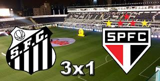 Santos 3x1 São Paulo