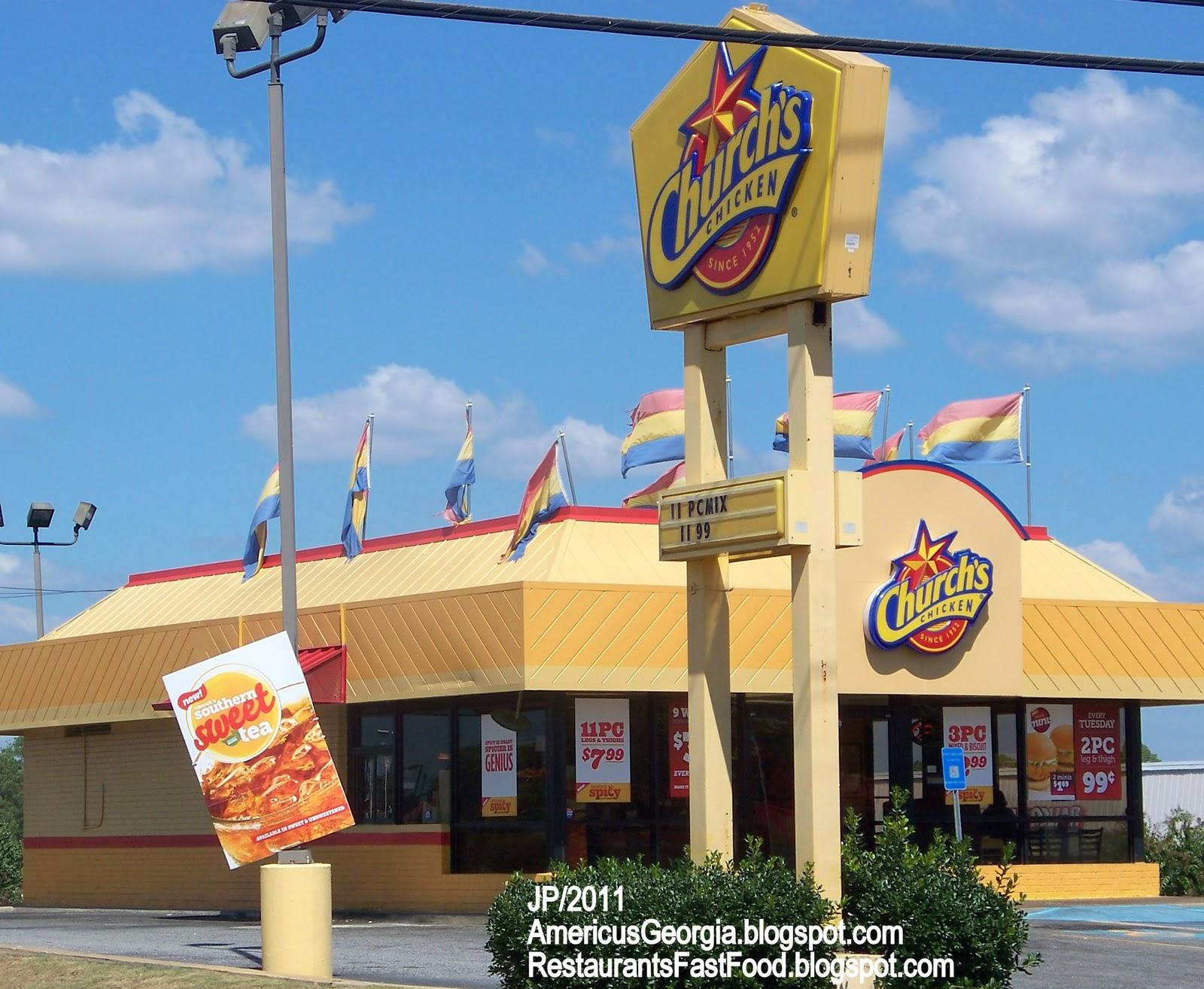 Church S En Americus Georgia Fried Fast Food Restaurant Sumter County Ga Regular Or Y