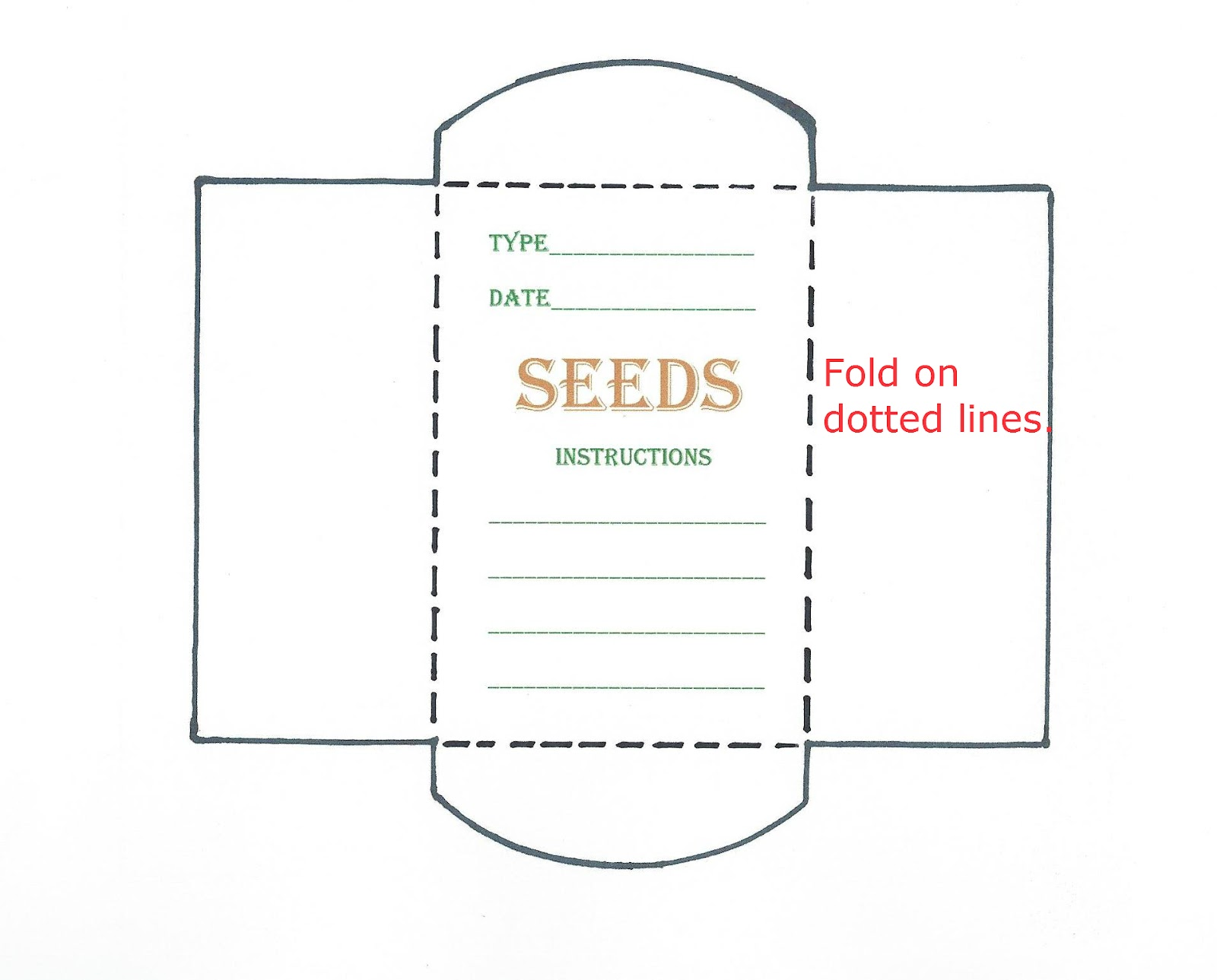 blank seed packet template - seed packet template playbestonlinegames