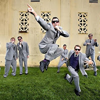 Groomsmen Jumping