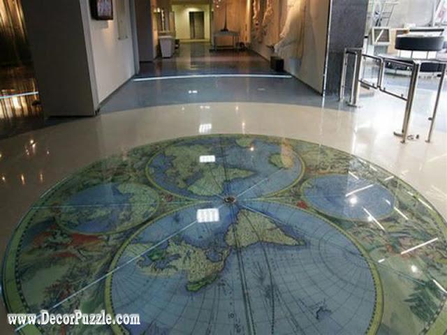 map flooring, unique flooring, creative flooring ideas, flooring options