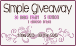 Simple Giveaway by Nina &amp; Hani