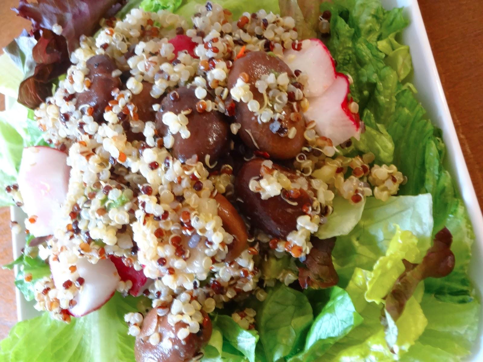 ... quinoa, spice from the radish, and complex carbs (again, quinoa