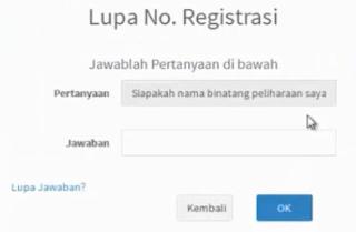 kode registrasi pupns tidak bisa di cetak