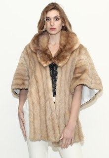 Vintage 1960's honey colored mink fur stole.