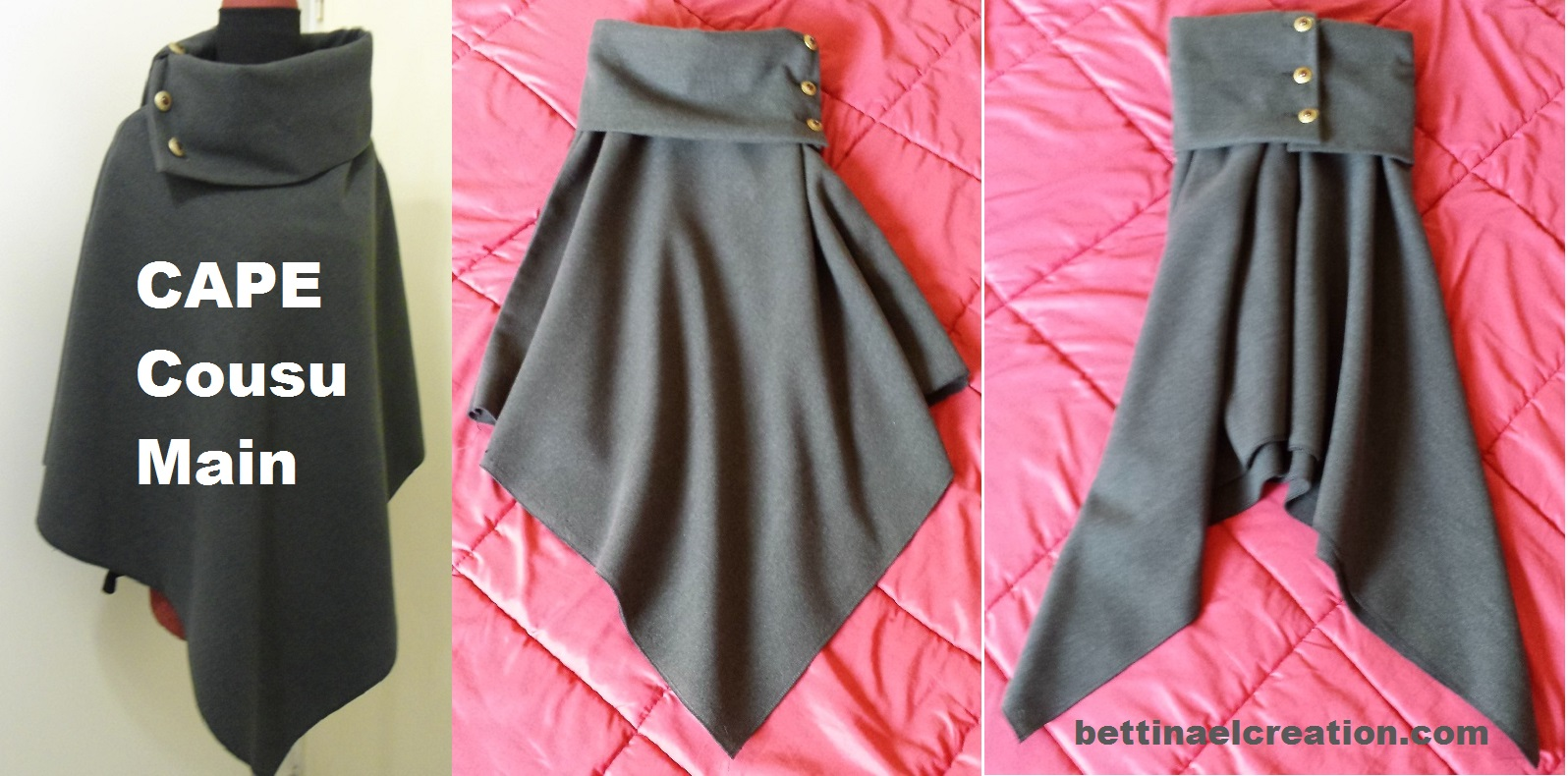 Extrem DIY: Cape/ Poncho, tutoriel couture gratuit Bettinael.Passion  DH48
