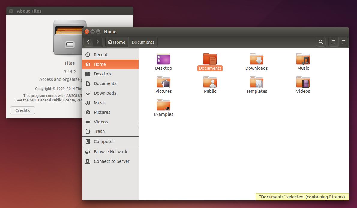 Nautilus 3.14 Ubuntu 15.05 Vivid Vervet
