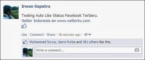Bukti Contoh Status Dapat Like Banyak - Netterku.com