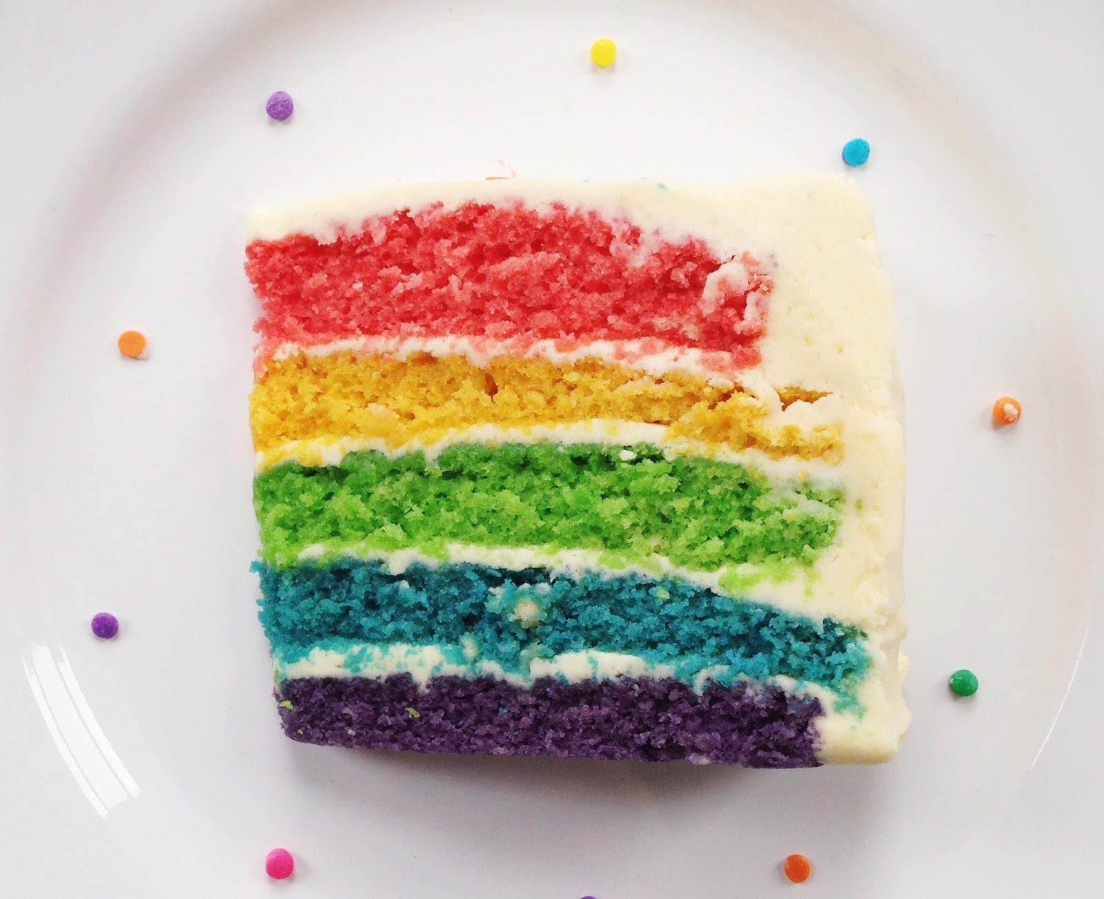 rainbow cake,