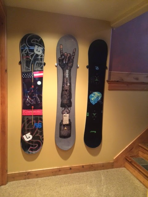 snowboard wall mount