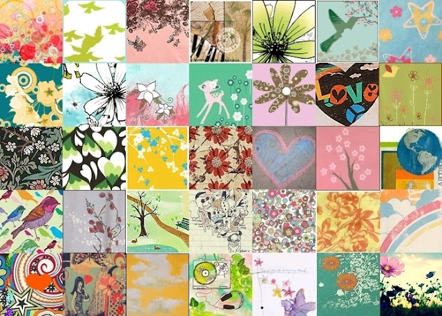 Flowers Icons Collage