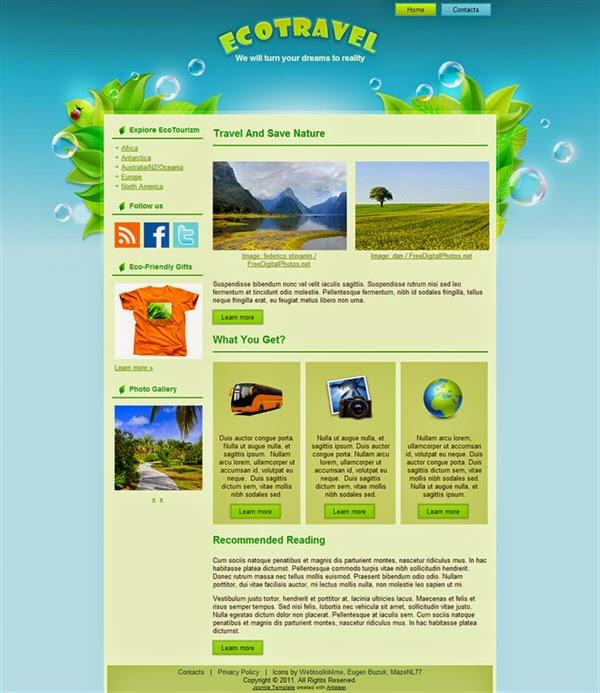 Eco Travel - Free Joomla! Template