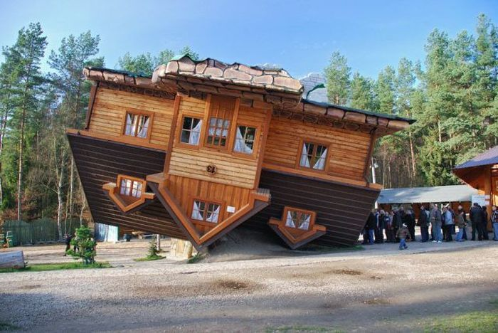 It Looks Like The House Upside Down, But It Is A House With A Different  Design From The Others Normal House. This Also Something That Need A  Specific ...