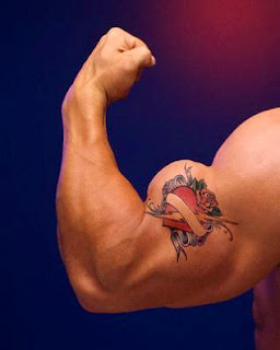 Biceps Tattoo - Heart Tattoo Design