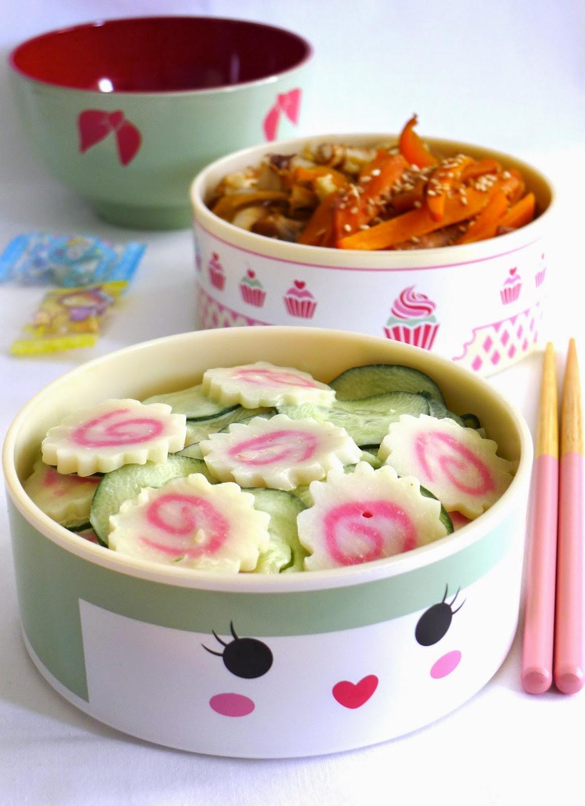 salade concombre naruto et mayonnaise au wasabi recettes pour mon bent. Black Bedroom Furniture Sets. Home Design Ideas