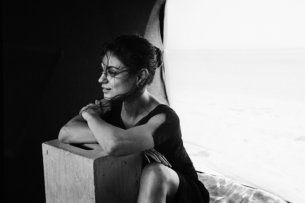 Mila Kunis by Peter Lindbergh for Gemfields 2014 campaign
