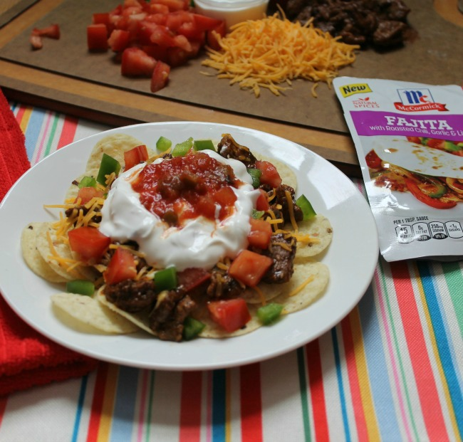 Steak Fajita Nachos Recipe - Outnumbered 3 to 1