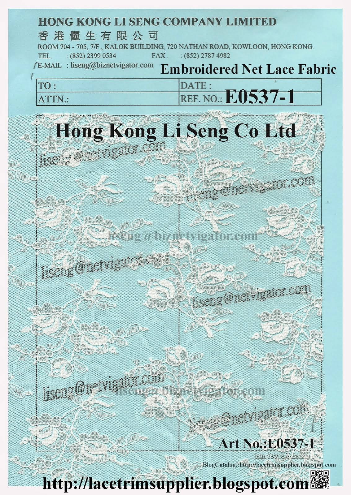 Embroidered Net Fabric Factory - Hong Kong Li Seng Co Ltd