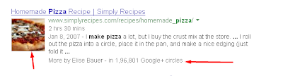 recipe Structured data rich snipets in pizza recipe website
