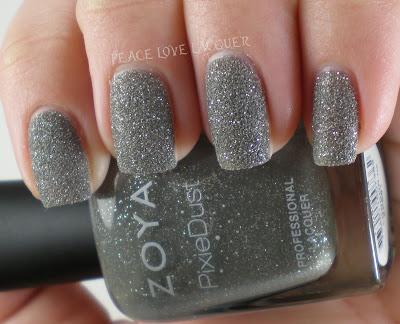 Zoya, PixieDust, Pixies, texture polish, sparkle, grey, gray