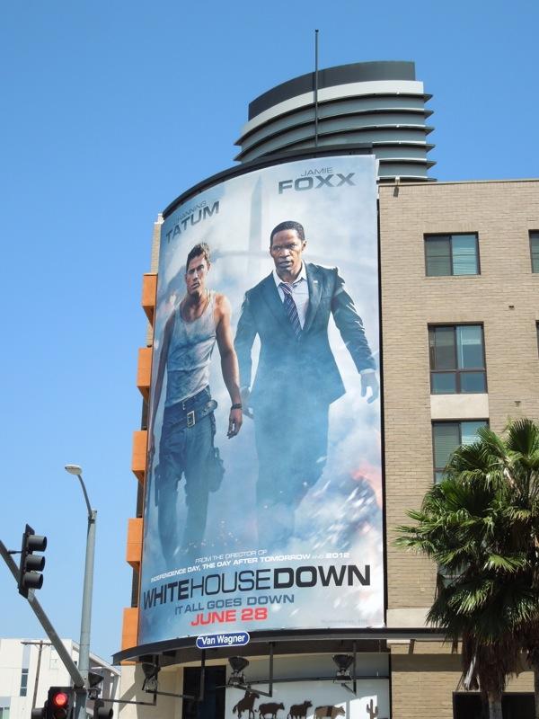 White House Down film billboard