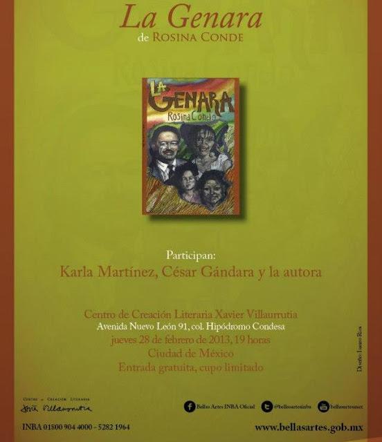 """Presentan el libro """"La Genara"""" de Rosinda Conde en el CCLXV"""