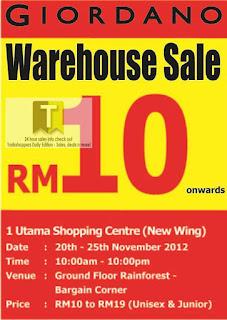 GIORDANO Warehouse Sale 2012